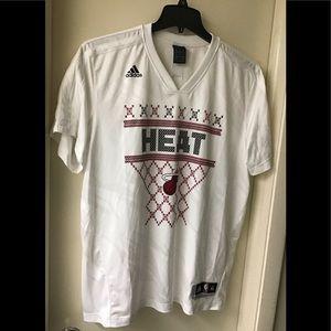Adidas Basketball NBA shirt White Miami Heat men's